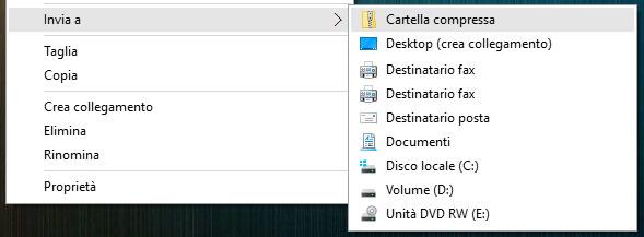 Comprimere file con Windows