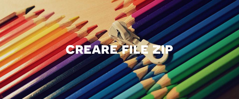 Comprimere file con il formato Zip